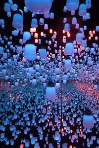 White Lantern Lot Hanging Lights 5k