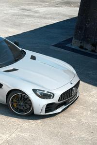 White Mercedes Benz Amg Gt