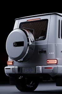 240x400 White Mercedes Benz G 63 Rear