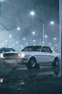 White Mustang2020