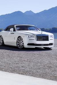1242x2688 White Rolls Royce Dawn