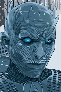480x800 White Walker Illustration