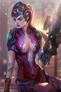 320x568 Widow Maker Overwatch Art