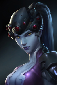 800x1280 Widowmaker Brown Eyes 4k