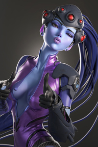 1080x2160 Widowmaker Fantasy Art 4k