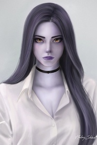 1242x2688 Widowmaker Fantasy Art