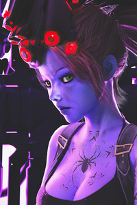 800x1280 Widowmaker Overwatch Cgi Art 4k
