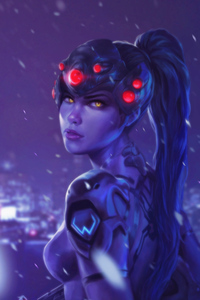 800x1280 Widowmaker Overwatch Character Fan Art 4k
