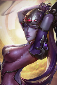 720x1280 Widowmaker Overwatch Fantasy Art 4k