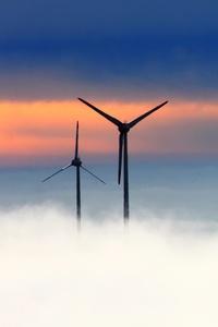 Wind Farm Clouds 5k