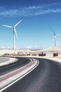 1125x2436 Wind Turbine Landscape