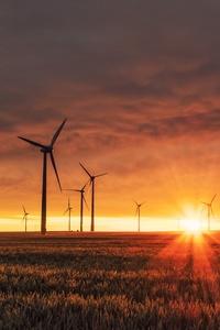 Wind Turbines Sunrise 5k