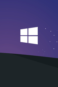 540x960 Windows 10 Bliss At Night Minimal 5k