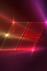 320x480 Windows 10 Classic Logo 4k