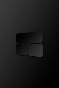 240x400 Windows 10 Darkness Logo 4k