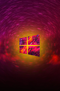 1280x2120 Windows 10 Logo Art 4k