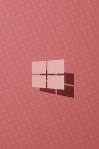 Windows 10 Logo Pink 4k