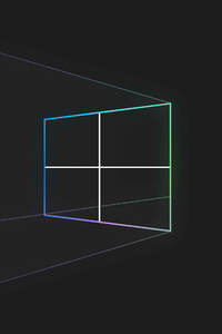 1242x2688 Windows 10 Minimal Simple 5k