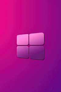 240x400 Windows 10 Pink Purple Gradient Logo 4k
