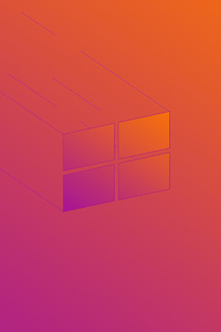 1080x2280 Windows 10 X Minimal Logo 5k