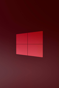 1440x2560 Windows 10 X Red Logo 5k