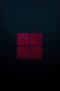 1242x2688 Windows 11 Dark 4k