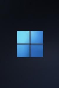 1080x2280 Windows 11 Logo Minimal 15k