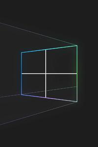 320x568 Windows Fluent Lines 4k
