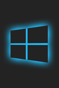 1440x2560 Windows Glowing Logo Blue 5k