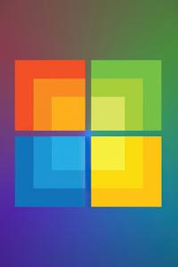 320x480 Windows Minimal Logo 4k