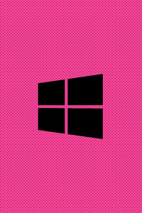 320x480 Windows Pink Minimal Logo 8k