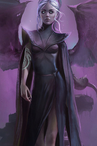 1440x2560 Wings Daenerys Targayen