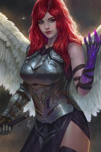 1125x2436 Wings Girl Gun
