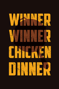 1242x2688 Winner Winner Chicken Dinner