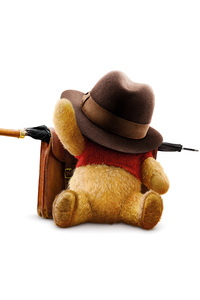 480x854 Winnie The Pooh In Christopher Robin Movie 8k