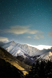 240x320 Winter Mountains 4k