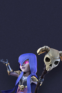 480x800 Witch Clash Of Clans Artwork