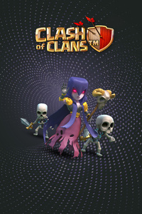 480x800 Witch Clash Of Clans HD