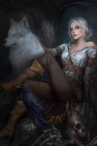 Witcher 3 Ciri Art
