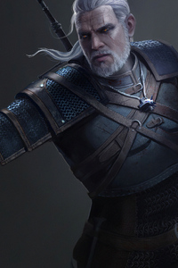720x1280 Witcher 3 Geralt Of Rivia 4k