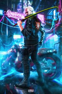 Witcher 3 Geralt Of Rivia X Cyberpunk 4k