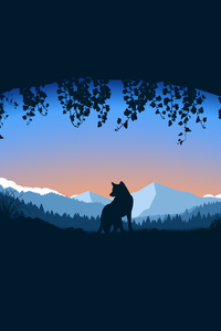 Wolf Cave Minimalist 4k