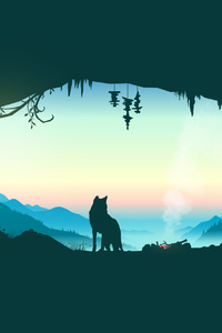 Wolf Cave Vector