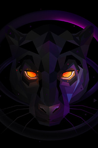 1242x2688 Wolf Facets
