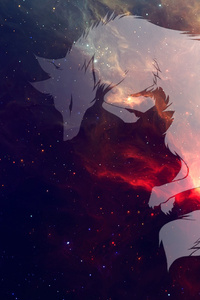 Wolf Fantasy Art Space