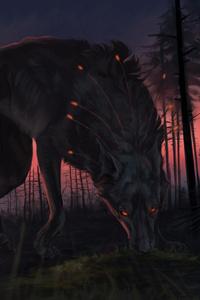 800x1280 Wolf Fantasy