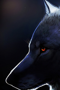 1242x2688 Wolf Glowing Eyes 4k