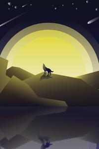 Wolf Howling Minimalist