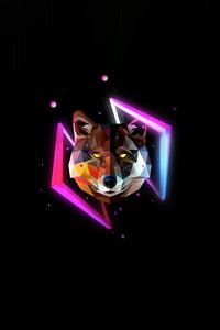 480x854 Wolf Minimal Justin Maller 4k