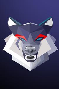Wolf Minimalism 4k